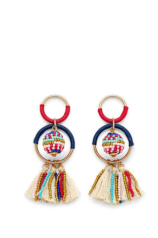 E26315 blair beaded ball statement earrings multi gold a large