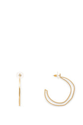 Sadie Sculptural Wave Hoop Earrings