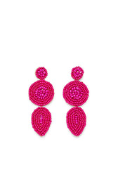 Linear Beaded Disc Earrings