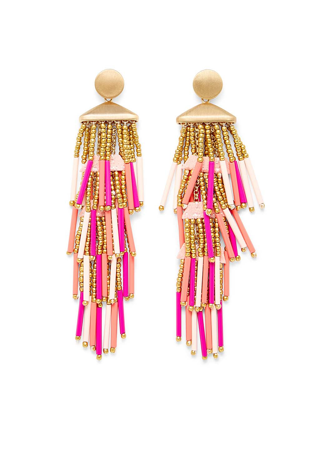 Beaded Fringe Drama Earring