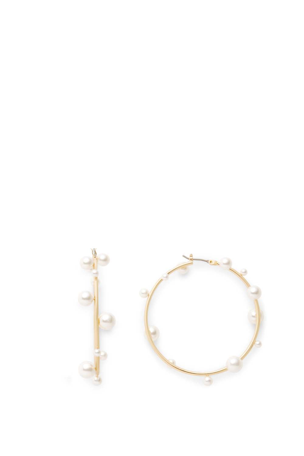 Sophia Floating Pearl Hoops