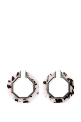 Octagon Resin Hoop Earrings