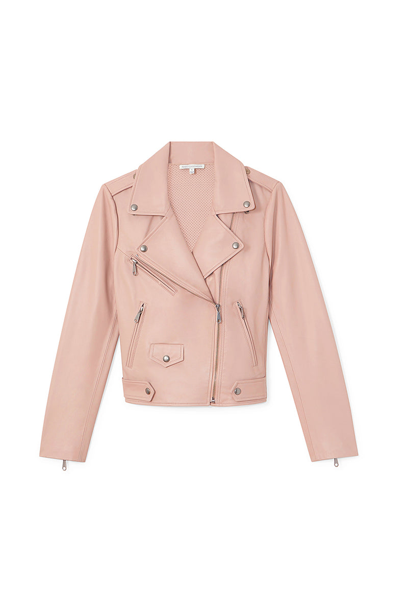 Rebecca Minkoff  Wes Moto Jacket With Neoprene
