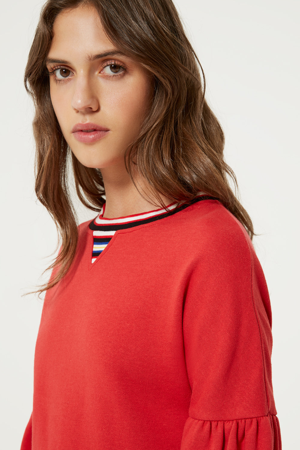 Jewel Sweatshirt With Stripe