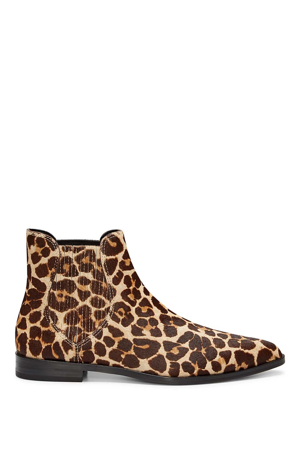 Women'S Madysin Too Leopard Print Calf Hair Pointed Toe Booties