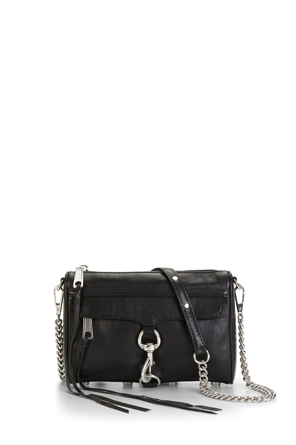Black   Silver Mini M.A.C. Crossbody Bag   Rebecca Minkoff 9bd493ba48