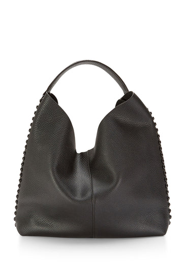 Unlined Hobo with Dome Studs