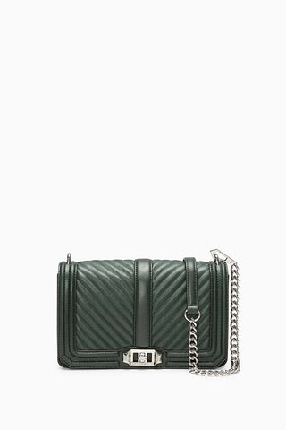 Hf18ecqx08 chevron quilted love crossbody 307 pine a large