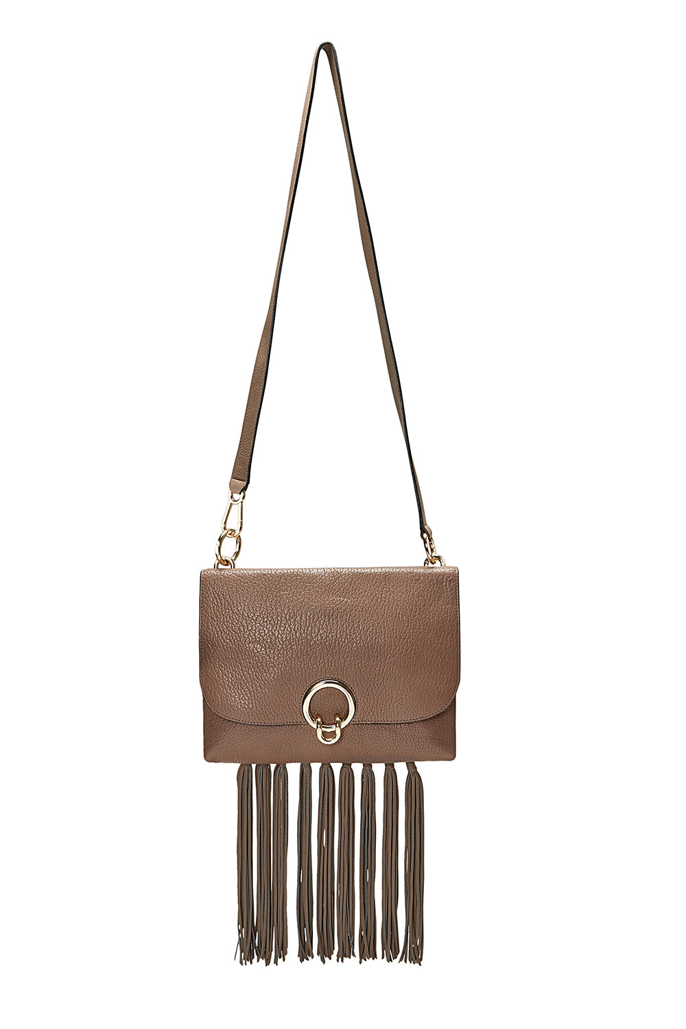 Isabel Large Shoulder Bag With Fringe
