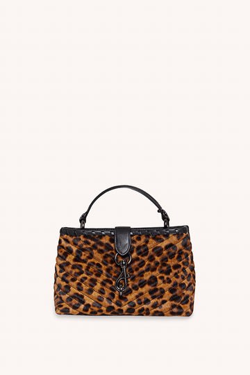 레베카 밍코프 사첼백 Rebecca Minkoff Edie Whipped Top Handle Satchel,LEOPARD HAIRCALF