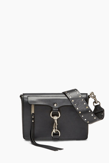 Large M.A.B. Flap Crossbody with Flat Stud Guitar Strap