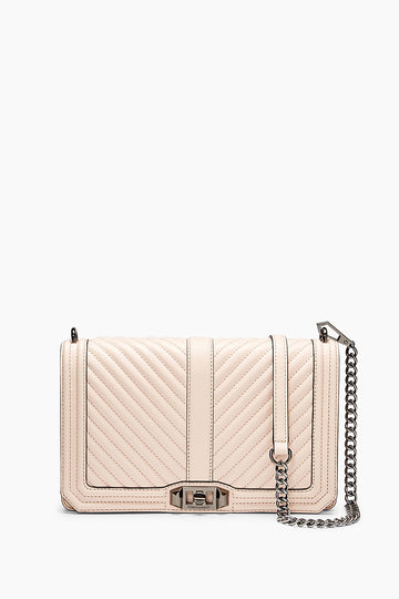 Chevron Quilted Slim Love Crossbody