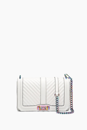 Chevron Quilted Love Crossbody