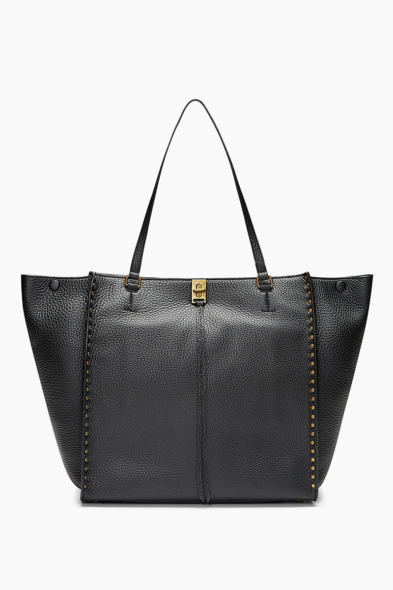 Darren Deerskin Leather Tote - Black