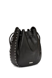 Lulu Contour Stud Shoulder Bag