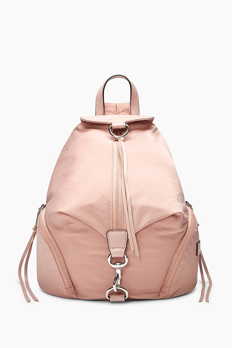 Mini Julian Nubuck Leather Convertible Backpack - Pink in Vintage Pink