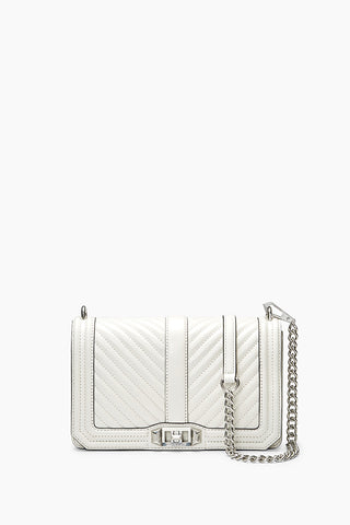 Hs18lcqx08 chevron quilted love crossbody 151 bianco a large