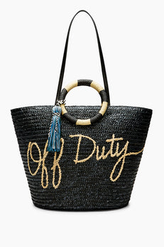 Straw Tote - Off Duty