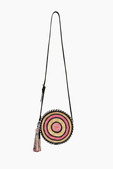 Straw Circle Crossbody