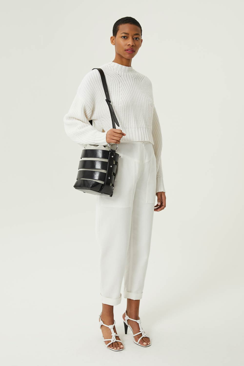 Cage Convertible Bucket Bag