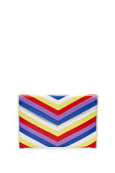 Chevron Quilted Leo Clutch