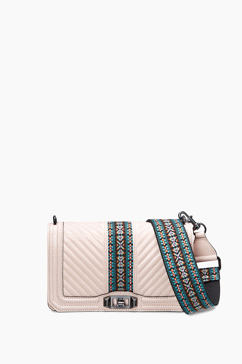 Jacquard Love Crossbody With Guitar Strap