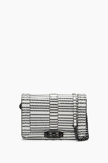 Striped Snake Small Love Crossbody