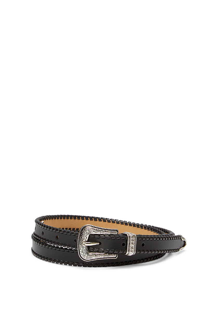 WHIPSTITCH LEATHER BELT
