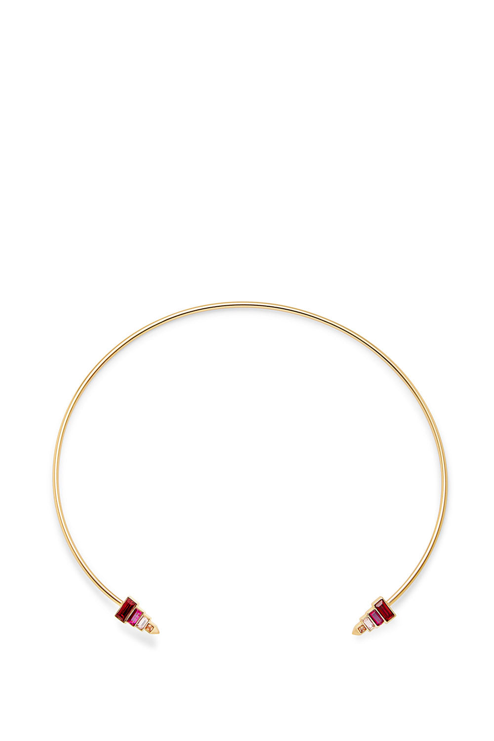 Stacked Baguette Collar Necklace