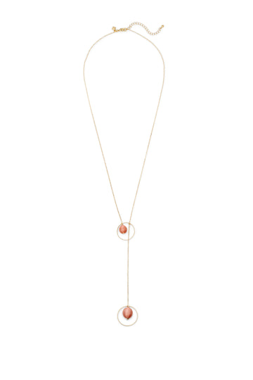 Threaded Ball Y-Neck Necklace