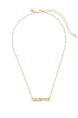 N39562 grl pwr pendant necklace 710 gold a large