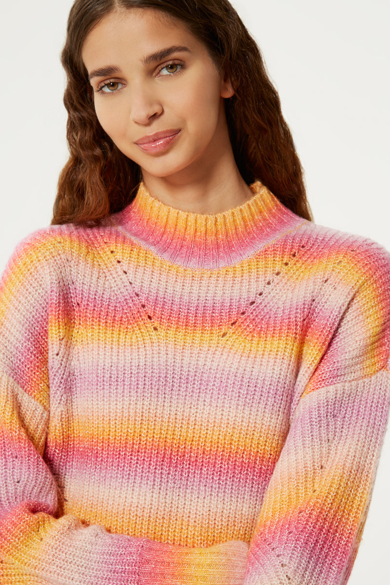 Rebecca Minkoff Womens Page Sweater-Ombre