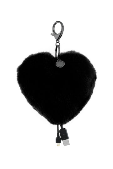 Heart Shaped Power Puff Keychain