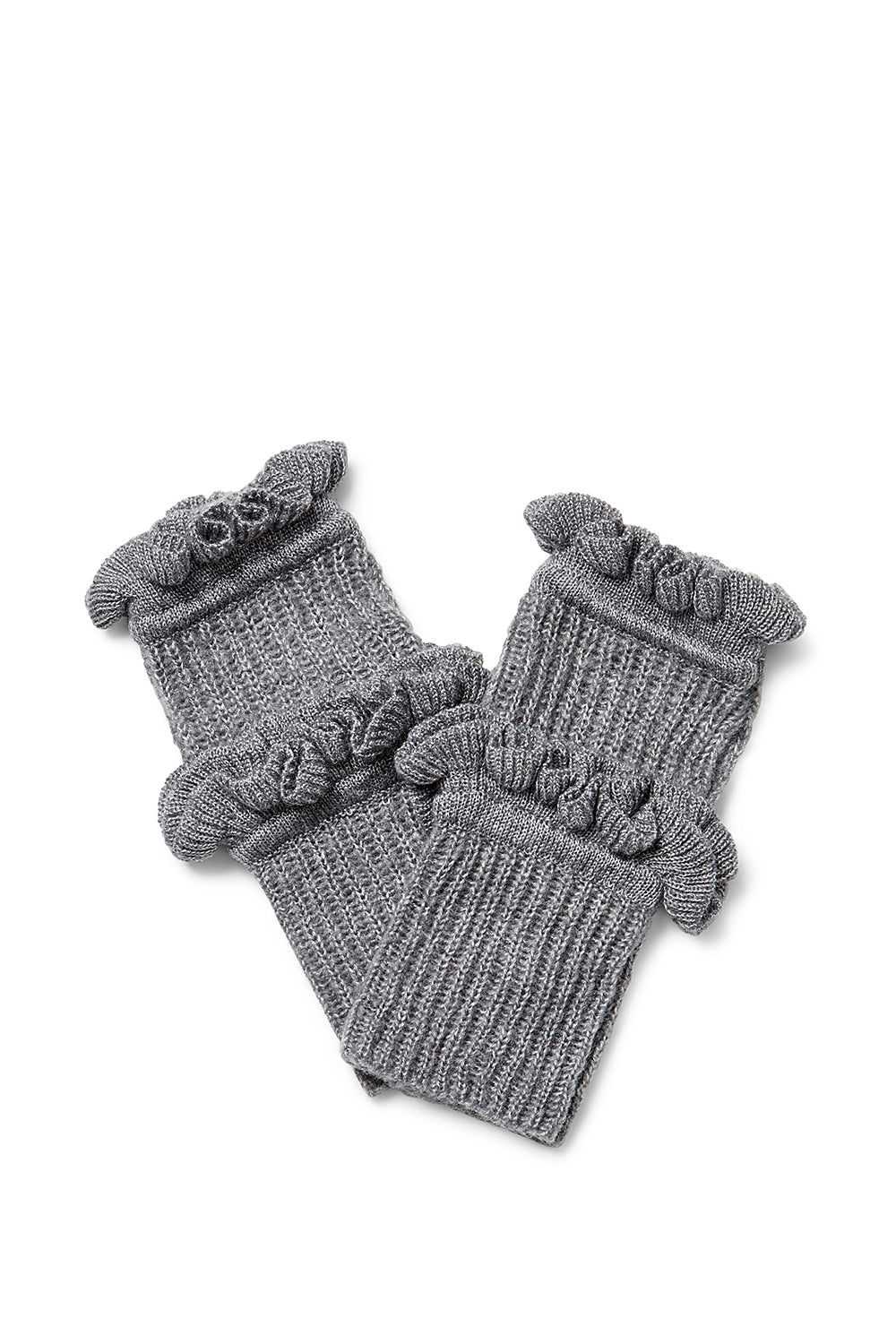 Ruffle Fingerless Gloves