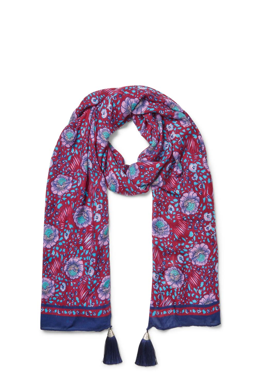 Persian Rose Oblong Scarf