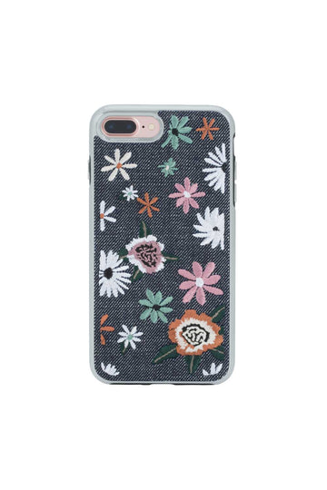 Floral Embroidery Case for iPhone 8 Plus & iPhone 7 Plus