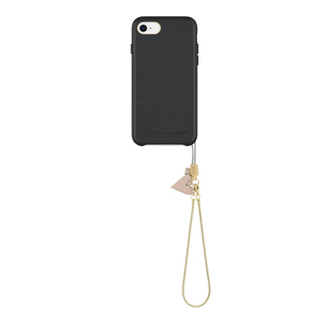 Leather Wrapped Case With Heart Charm for iPhone 8 & iPhone 7