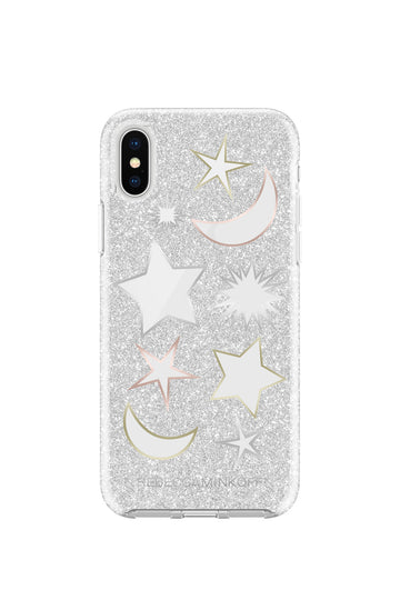 Glitter Galaxy Silver Glitter Case For iPhone X