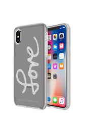 Love Silver Glitter Case For iPhone XS & iPhone X
