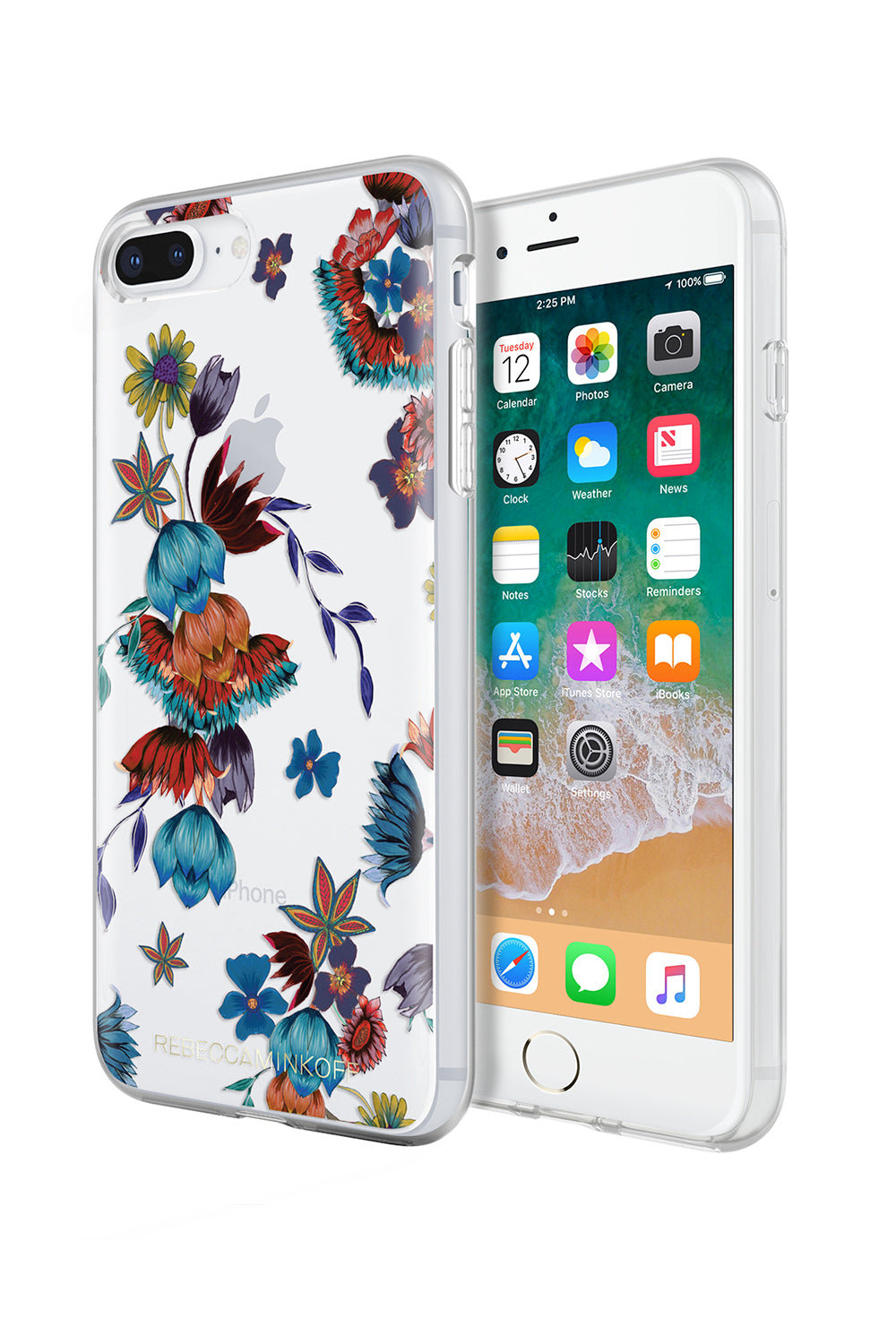Punk Floral Print Case For iPhone 8 Plus & iPhone 7 Plus