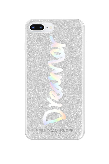 Dreamer Silver Glitter Case For iPhone 8 Plus & iPhone 7 Plus