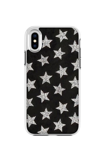 Leather Stars Case For iPhone X