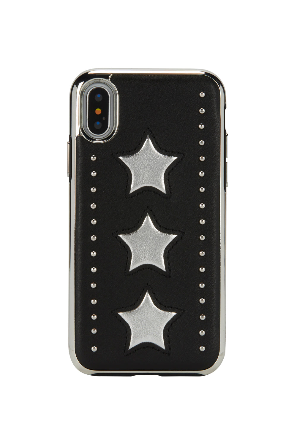 Leather Star Inlay Case For iPhone XS & iPhone X