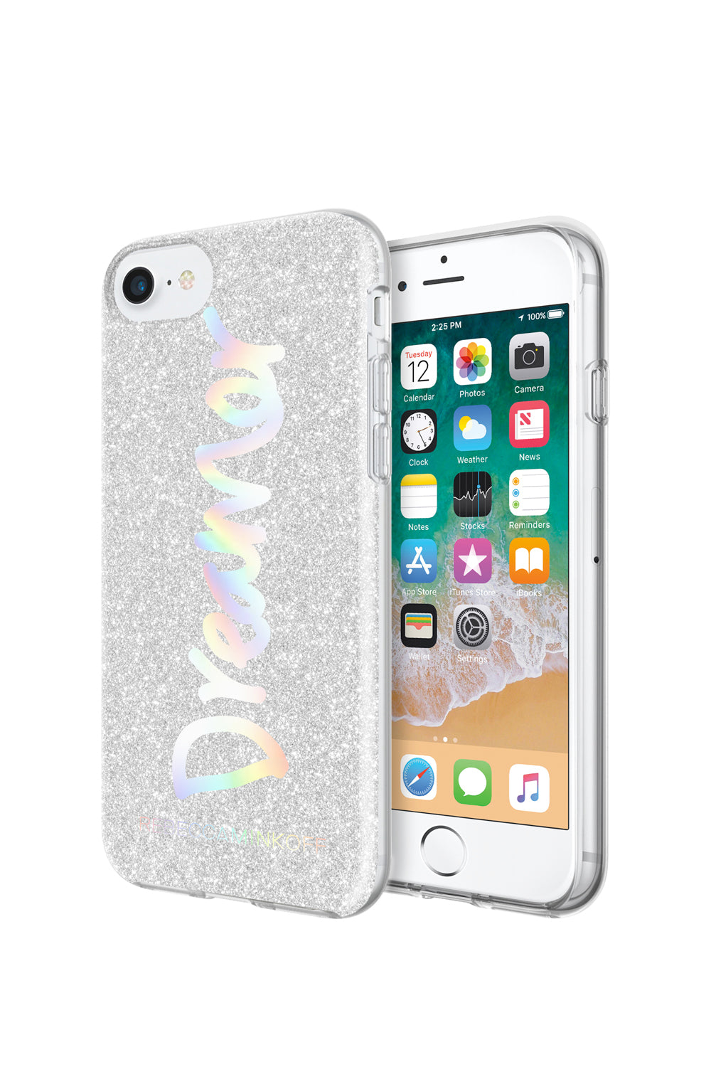 Dreamer Silver Glitter Case For iPhone 8 & iPhone 7
