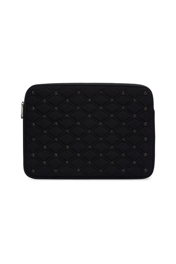 Quilted Stud Laptop Sleeve