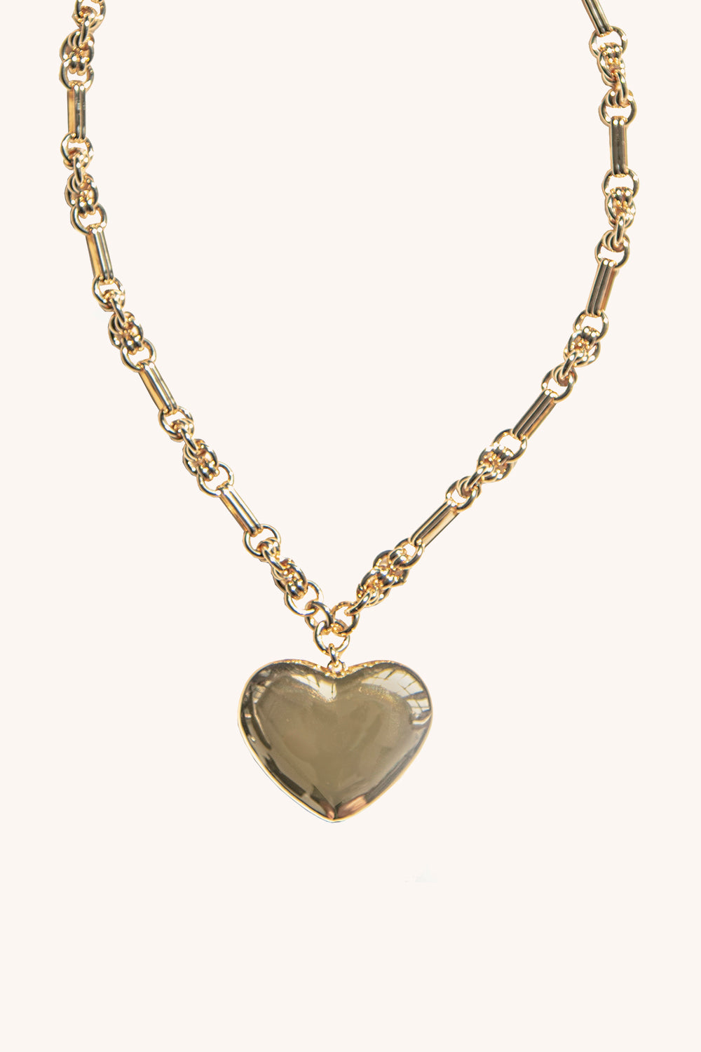 Rebecca-Minkoff Puffy Metal Heart Pendant