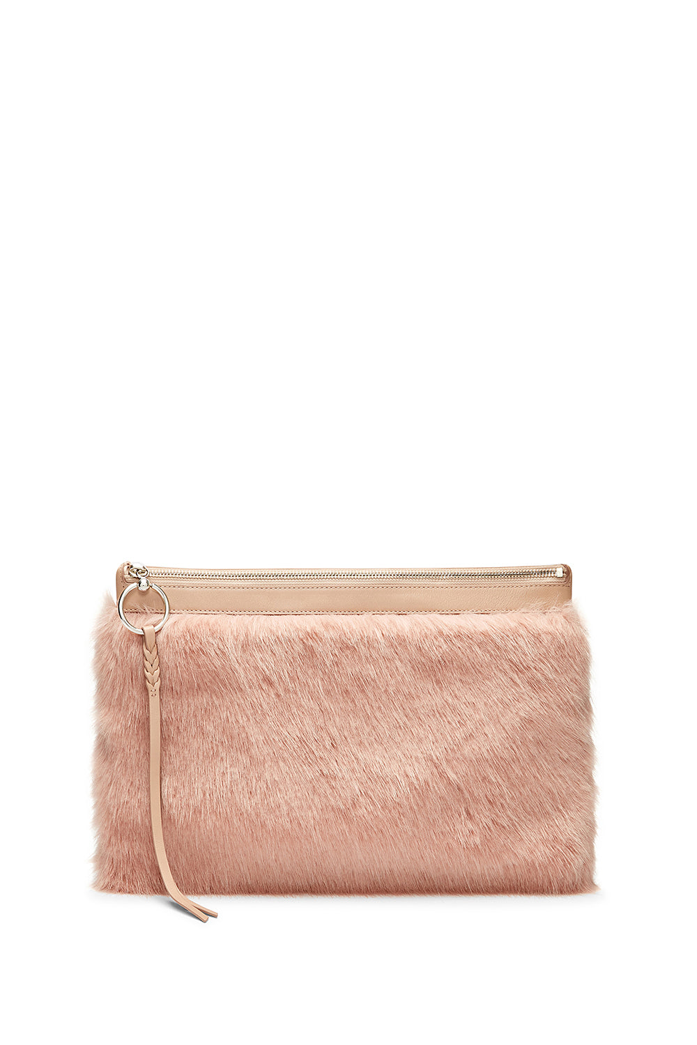 Faux Fur Large Zip Clutch