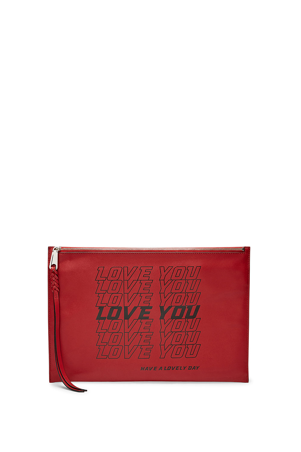 Love You Large Zip Clutch