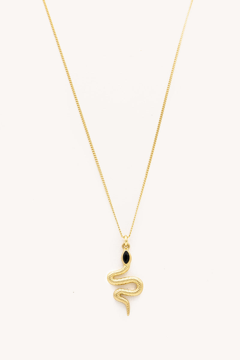 Rebecca Minkoff Snake Charm Necklace In Gold