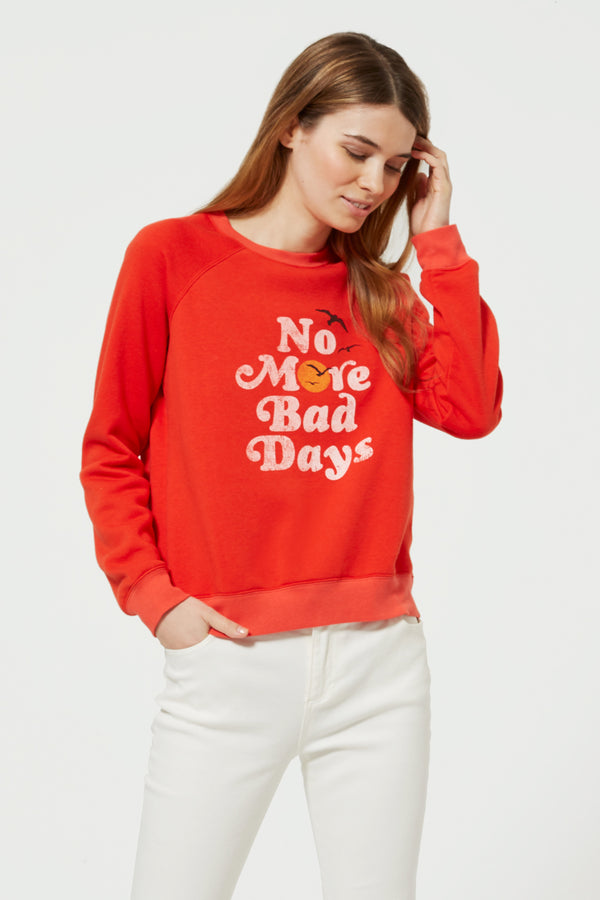 No Bad Days Sweatshirt by Rebecca Minkoff